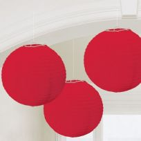 Apple Red Paper Lanterns 24cm (3)